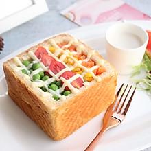 【彩虹吐司沙拉】吃定彩虹#晒出你的团圆大餐#