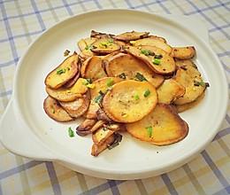 香煎椒盐杏鲍菇的做法