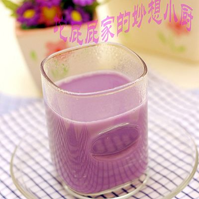 紫薯牛奶豆浆