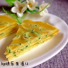 #夏日素食#无油版黄瓜蛋饼