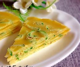 #夏日素食#无油版黄瓜蛋饼的做法