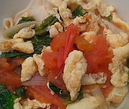 西红柿鸡蛋捞面条的做法