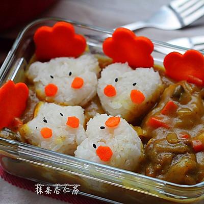 卡通饭团咖喱饭