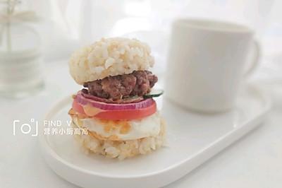 mini米饼牛肉堡