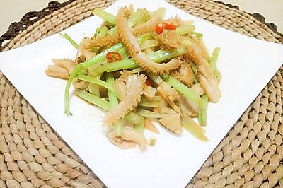 芹菜炒牛肚