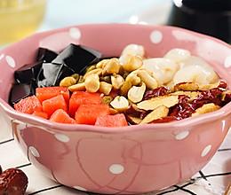 消暑仙草水果冰粥的做法