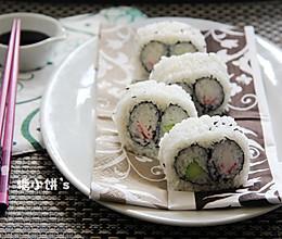 【双拼里卷寿司】的做法
