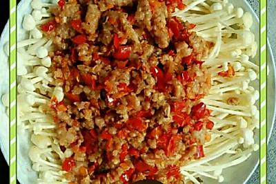 剁椒肉末金针菇