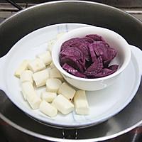 山药紫薯双色杯子戚风蛋糕的做法图解12