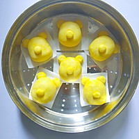 可爱的小熊南瓜糯米糕的做法图解5
