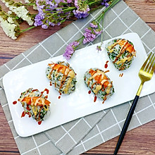 #父亲节,给老爸做道菜#蟹柳海苔饭团