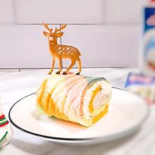 圣诞彩虹蛋糕卷