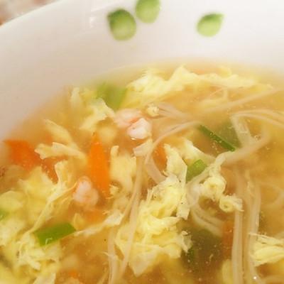 金胡蛋虾汤