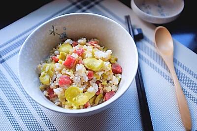 糙米蚕豆焖饭