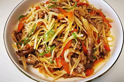 青红椒土豆肉丝