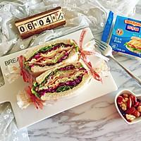 多彩野餐三明治#百吉福食尚达人#的做法图解19