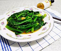 特别新鲜挺立的油麦菜的做法