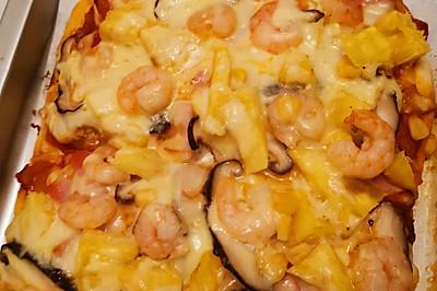 火腿菠蘿蝦仁披薩