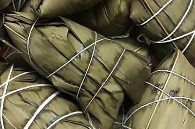 廣東風味綠豆肉粽內含包法