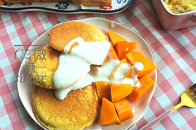 #做道懶人菜,輕松享假期#超鬆軟蘇芙厘鬆餅~