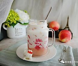 桃香四溢的蜜桃果冻网红牛奶,小心一喝就上瘾~的做法