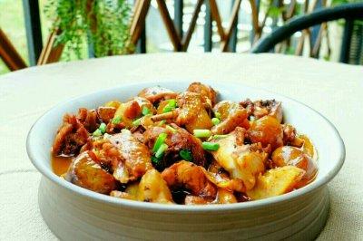 電飯煲|板栗燒雞