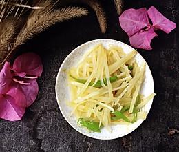 超简单青椒土豆丝的做法
