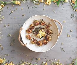 烤培根奶酪馅的西葫芦花【安卡西厨】的做法