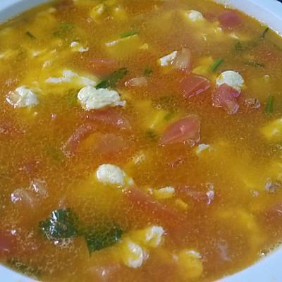 西红柿鸡蛋豆腐汤(三丁汤)