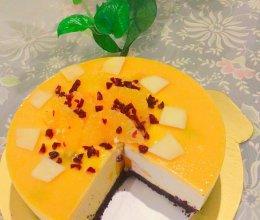 芒果酸奶慕斯(8寸)的做法