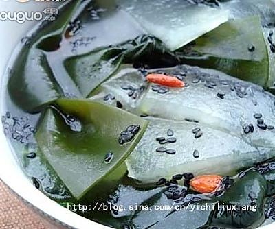 瘦身黑发的饮食靓汤-----芝麻海带汤