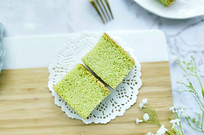 #金龙鱼精英100%烘焙大赛颖涵战队#菠菜海绵蛋糕