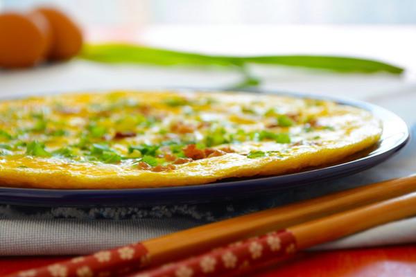 59期 快手菜 香葱肉碎煎蛋的做法