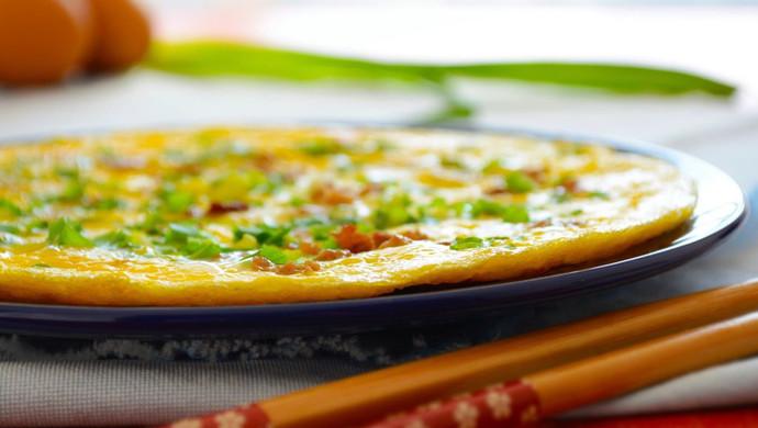 59期 快手菜 香葱肉碎煎蛋