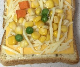 亲子 牛肉玉米奶酪吐司披萨套餐的做法