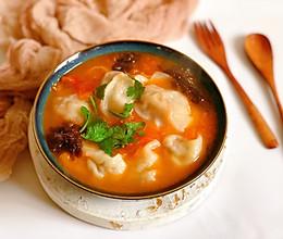 #洗手作羹汤#茄汁香菇肉馄饨的做法