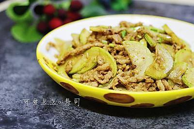 笋瓜炒肉丝