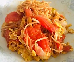 西红柿鸡蛋炒金针菇的做法