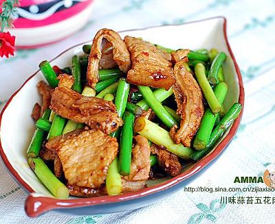 蒜苔五花肉