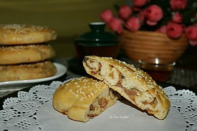 烤鲜肉烧饼#haollee烘焙课堂#