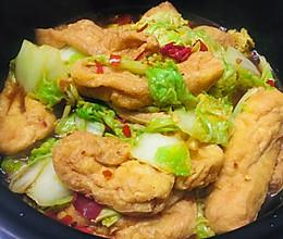 白菜煮油豆腐的做法