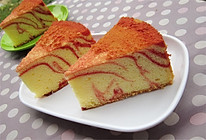 红曲条纹戚风蛋糕#九阳烘焙剧场#的做法