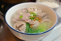 潮汕猪杂汤饭,简单易做又美味的做法