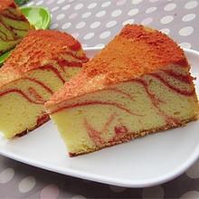红曲条纹戚风蛋糕#九阳烘焙剧场#
