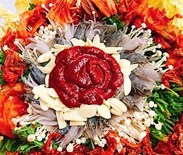 快手极品韩式海鲜锅的做法