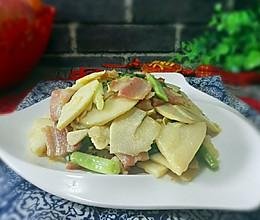 腊肉炒冬笋#鲜的团圆味#的做法