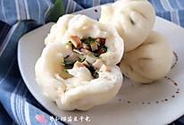 萝卜缨苗豆干包的做法