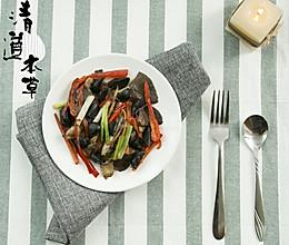 黑蒜平菇的做法
