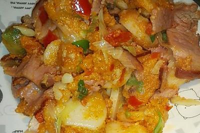 熏肉榨广椒
