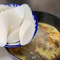 #好吃不上火#螃蟹年糕汤的做法图解5